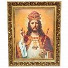 Obrazek Chrystus Król w ozdobnej ramie