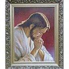 Obraz Jezus modlący się (ozdobna rama)