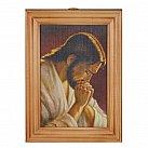 Obrazek w drewnianej ramce Jezus modlący się
