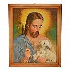 Obrazek w ramce z Jezusem Dobrym Pasterzem