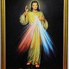 Obraz Jezusa Miłosiernego na płótnie 100x70