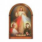 Obraz Jezusa Miłosiernego z świętym Janem Pawłem