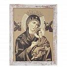Obraz Matka Boża Nieustającej Pomocy biała przecierana rama duża
