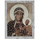 Obraz Matka Boska Częstochowska duży przecierana rama