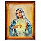 Obrazek w ramce Serce Maryi 30x40 cm zwykła rama