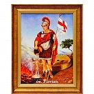 Obraz św. Florian w ozdobnej ramie