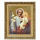 Obraz święty Józef  w ozdobnej ramie