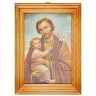 Obrazek w ramce ze Świętym Józefem