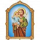 Obrazek św. Józef na sklejce mniejszy