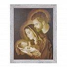 Obraz święta Rodzina wzór 2 biała przecierana rama duża