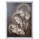 Obraz Święta Rodzina XL biała przecierana rama, wzór 2