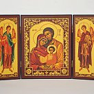 Obrazek Tryptyk Święta Rodzina z Aniołami