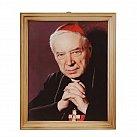 Obrazek w ramce kardynał Wyszyński 20x25 drewno
