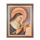 Obraz św. Rita w ramie z paskiem 30x40