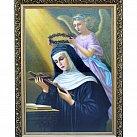 Obraz św. Rita w ozdobnej ramie 50x70