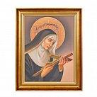Obraz św. Rita w ozdobnej ramie, na płótnie