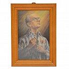 Obrazek w ramce ze świętym Maksymilianem Kolbe 10x15