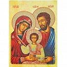 Obrazek Ikona św. Rodziny, Pamiątka Zawarcia Sakramentu Małżeństwa A4 jasna