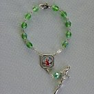 Różaniec ze świętym Krzysztofem zielony