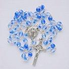 Różaniec kryształkowy kulka lodowy niebieski