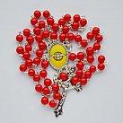 Różaniec Duch Święty czerwony wzór 2