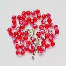 Różaniec kryształ czerwony opalenizowany 7 mm