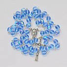 Różaniec kryształ niebieski opalenizowany 7mm