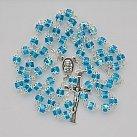 Różaniec kryształkowy okuwany błękitny