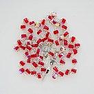 Różaniec kryształkowy okuwany czerwony