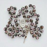 Różaniec ze świętą Ritą wzór 2
