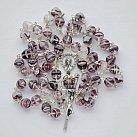 Różaniec kryształkowy romby fioletowy