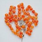 Różaniec kryształkowy romby pomarańczowy
