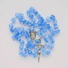 Różaniec kryształkowy niebieski romby