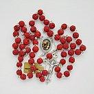 Różaniec z lawy Wezuwiusza czerwony