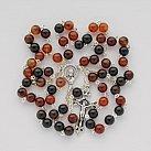 Różaniec kamienie Agat Brązowy 6 mm