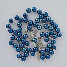 Różaniec kamienie HEMATYT niebieski