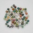 Różaniec kamienie Agat Indiański 6 mm