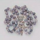 Różaniec kamienie MARMUREK fioletowy
