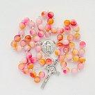 Różaniec kamienie AGAT Różowy