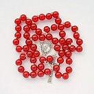 Różaniec Jadeit Czerwony 10mm