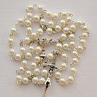 Różaniec komunijny kulka perłowa