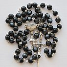 Różaniec komunijny perła czarny