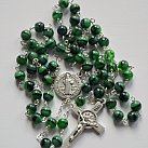 Różaniec kryształkowy kulka Benedykt zielony