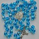 Różaniec kryształkowy duży niebieski