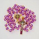 Różaniec Benedykt amarantowy kolorowy