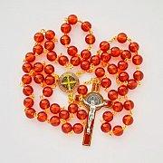 Różaniec Benedykt pomarańczowy kolorowy