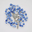 Różaniec kulka niebieski melanż Benedykt