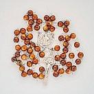 Różaniec kryształkowy kulka Benedykt brązowy