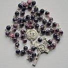 Różaniec kryształkowy kulka różowo-fioletowy
