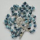 Różaniec kryształkowy kulka szaroniebieski